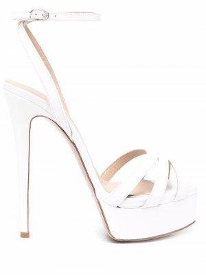 Strappy platform sandals Le Silla. Цвет: белый