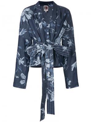 IM Isola Marras куртка с цветочным принтом I'M. Цвет: синий