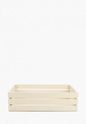 Ящик для хранения Мастер Рио 37х29х29 см. Цвет: белый