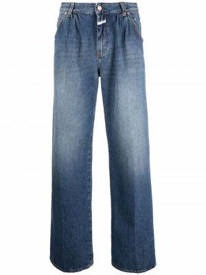 High-waisted wide leg jeans Closed. Цвет: синий