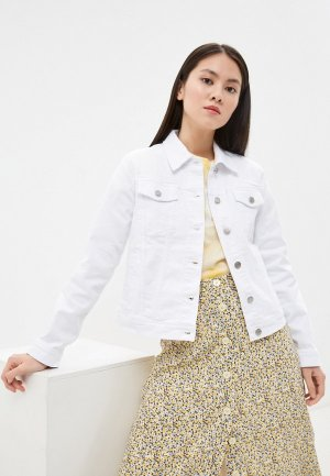 Куртка джинсовая Gap. Цвет: белый
