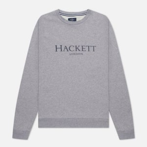 Мужская толстовка London Logo Crew Neck Hackett. Цвет: серый