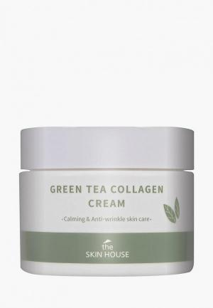 Крем для лица The Skin House Успокаивающий на основе коллагена и экстракта зелёного чая, 50 мл. Цвет: прозрачный