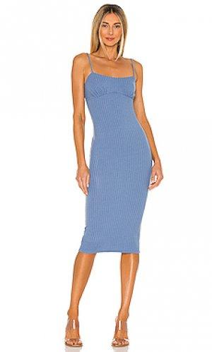 Платье миди claudia Camila Coelho. Цвет: синий