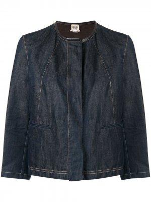 Джинсовая куртка без воротника Hermès. Цвет: синий