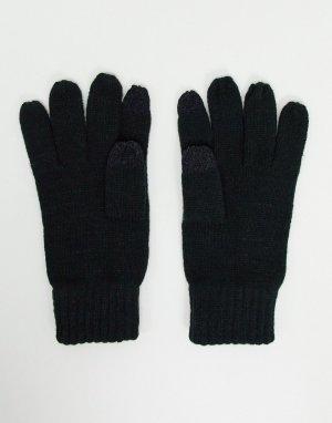 Черные перчатки для сенсорных экранов -Серый French Connection