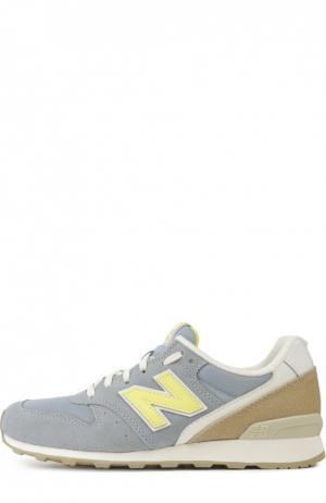 Замшевые кроссовки 996 на шнуровке New Balance. Цвет: разноцветный