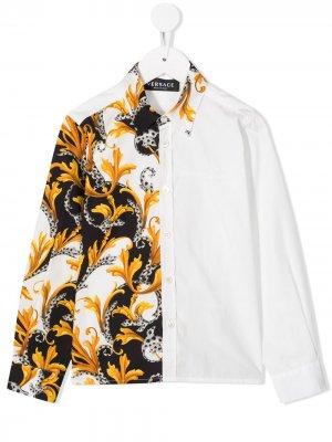 Рубашка с принтом Baroque Young Versace. Цвет: белый