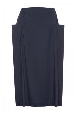 Трендовая юбка VASSA&Co. Цвет: синий