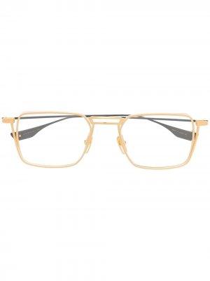 Очки Lindstrum в квадратной оправе Dita Eyewear. Цвет: золотистый
