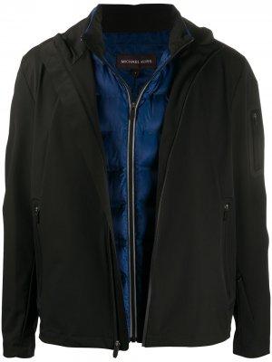 Куртка на молнии Michael Kors. Цвет: черный