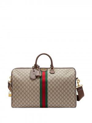 Большая дорожная сумка Ophidia Gucci. Цвет: коричневый