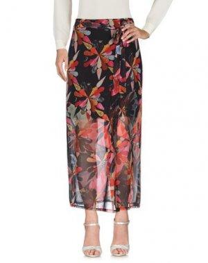 Длинная юбка MARCELLO SANGIORGI. Цвет: черный