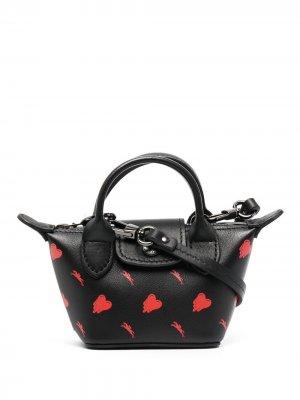 Сумка через плечо Le Pliage Longchamp. Цвет: черный