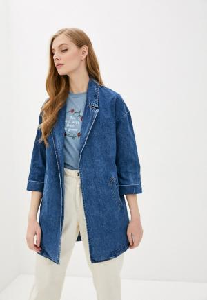 Куртка джинсовая Pimkie. Цвет: синий