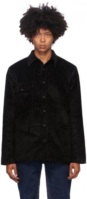Reversible Black Corduroy Woodhacker Jacket Bless. Цвет: black cord