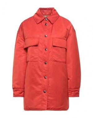 Пальто TELA. Цвет: красный