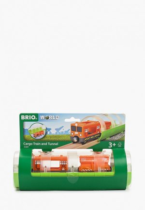 Конструктор Brio Грузовой вагон и туннель (3 элемента), блистре 23,5х7,8х7,8 см., кор. 23,5х8х15 см.. Цвет: разноцветный