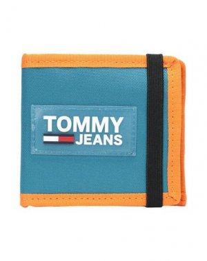 Бумажник TOMMY JEANS. Цвет: бирюзовый