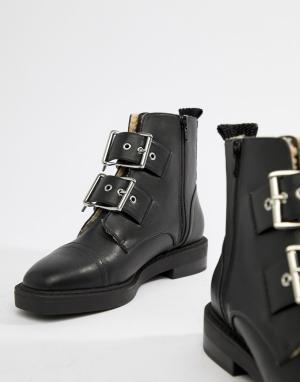 Ботинки на меховой подкладке с пряжками Appreciate ASOS DESIGN