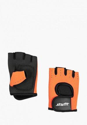 Перчатки для фитнеса Starfit. Цвет: оранжевый