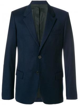Пиджак на двух пуговицах AMI. Цвет: синий