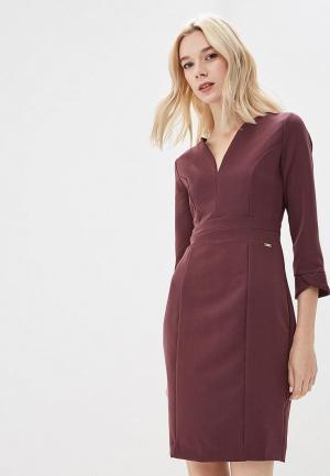 Платье Armani Exchange. Цвет: бордовый