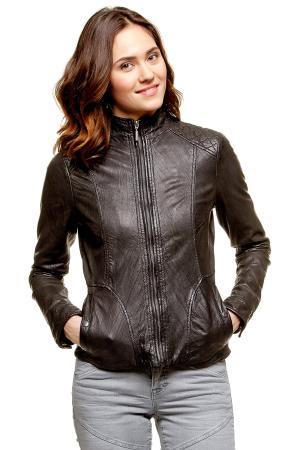 Кожаная куртка Tom Tailor 372186600702999. Цвет: черный