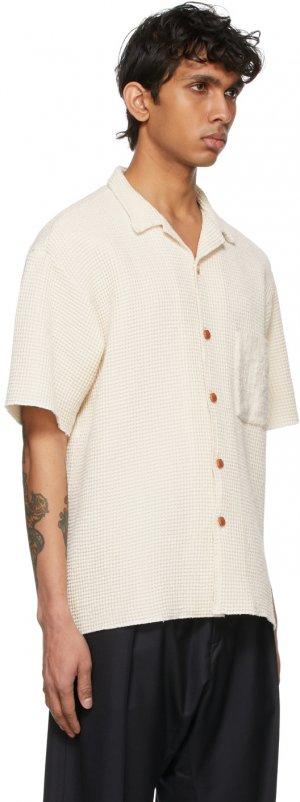 Off-White Waffle Short Sleeve Shirt Kuro. Цвет: ivory
