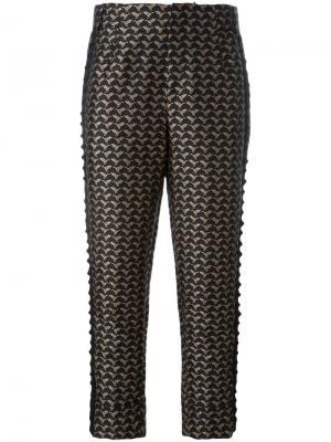Укороченные брюки A.F.Vandevorst. Цвет: черный