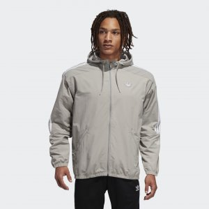 Ветровка Outline Originals adidas. Цвет: серый