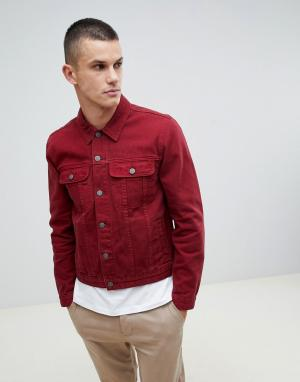 61a4eaa151b6 Красная джинсовая куртка