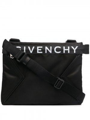 Сумка через плечо с логотипом Givenchy. Цвет: черный