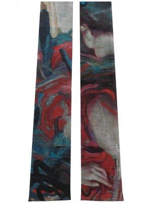 Манжеты с абстрактным узором Yohji Yamamoto. Цвет: красный
