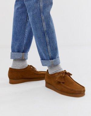 Светло-коричневые замшевые туфли -Светло-коричневый Clarks Originals