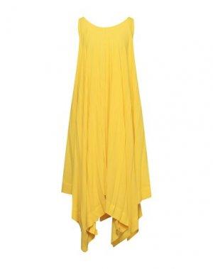 Платье до колена ISSEY MIYAKE. Цвет: желтый