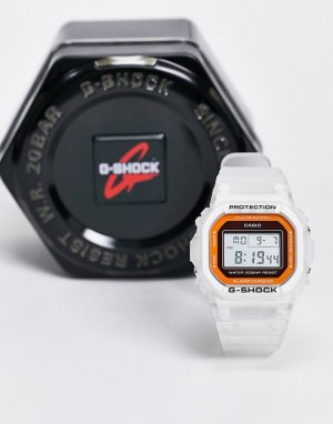 Белые цифровые часы G-shock DW-5600LS-7-Белый Casio