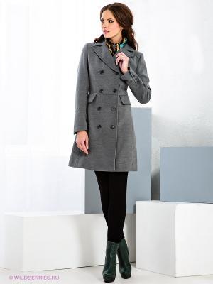 Пальто Fairly. Цвет: серый