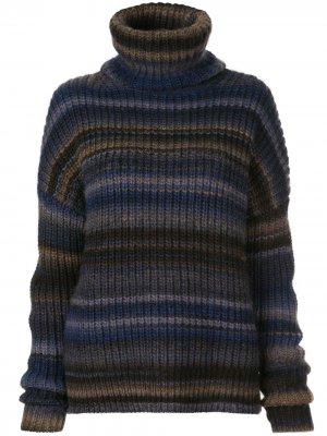 Полосатый джемпер Kelley с высоким воротником Altuzarra. Цвет: синий