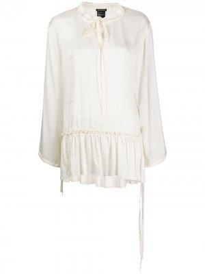Блузка с завязками Ann Demeulemeester. Цвет: нейтральные цвета