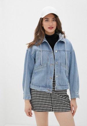 Куртка джинсовая Snow Airwolf. Цвет: голубой