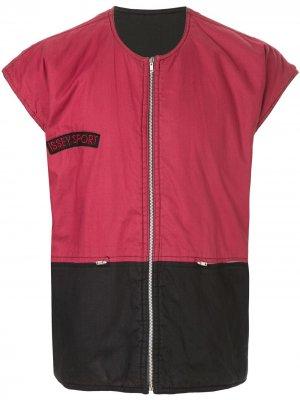 Жилет Sports Line 1980-х годов в стиле колор-блок Issey Miyake Pre-Owned. Цвет: красный