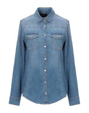 Джинсовая рубашка KAOS JEANS. Цвет: синий