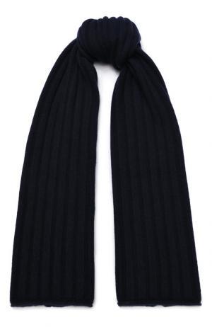Кашемировый шарф фактурной вязки Allude. Цвет: синий