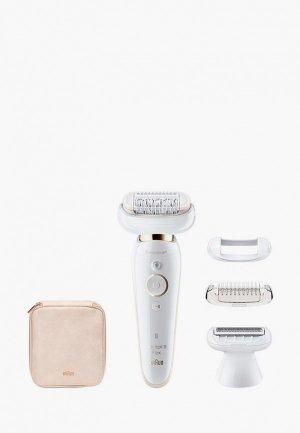 Эпилятор Braun Silk-epil 9 Flex SES 9002. Цвет: белый