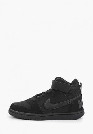 Кеды Nike BOYS COURT BOROUGH MID (PS) PRE-SCHOOL SHOE. Цвет: черный