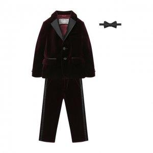 Комплект с галстуком-бабочкой Il Gufo. Цвет: красный