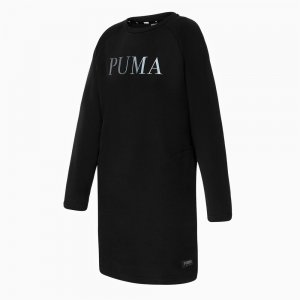 Платье Athletics Dress FL PUMA. Цвет: черный