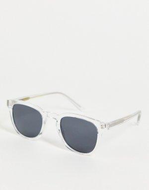 Квадратные солнцезащитные очки с прозрачной оправой в стиле унисекс Bate-Прозрачный A.Kjaerbede