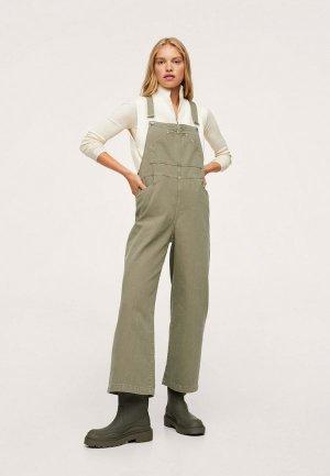 Комбинезон джинсовый Mango KHRIS. Цвет: зеленый